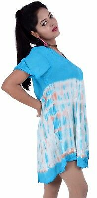 Tunic evening Fabric Rayon Women Short Sleeve top Wholesale New NN