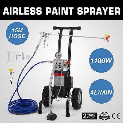 All-in-One Airless Paint Sprayer Spray Gun W/ Air Tires Painting 4L/MIN 1100w