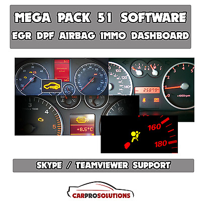 51x Best Software EGR DPF Immo Off Remover Airbag Repair Dashboard Calibration