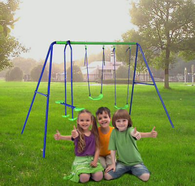 3 IN 1 Play Set Swing Set Playsets Playground Equipment Kids Toys Outdoor