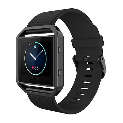 Bands with Frame for Fitbit Blaze, Simpeak Silicone Replacement Band Strap,US