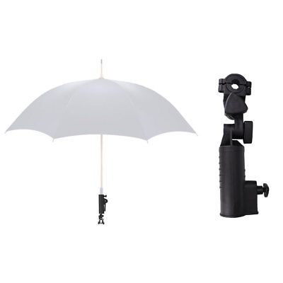 Black Golf Club Push Pull Trolley Umbrella Holder Bracket Plastic Sport