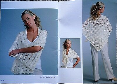 Patons Knitting Pattern Book1222-Ladies' Wraps & Tops In 8 Ply Zhivago, Feathers
