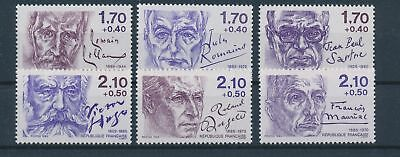 LH19221 France personalities fp fine lot MNH