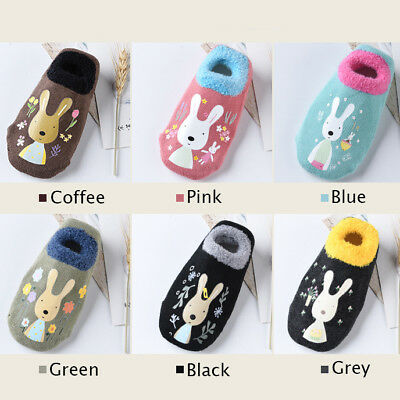 Winter Non-Slip Warm Newborn Baby Socks Shoes Bunny Socks Anti-Slip Slippers