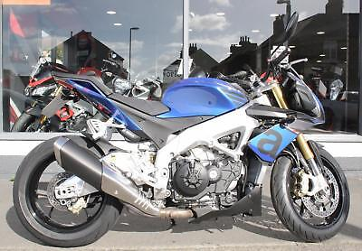2016 Aprilia Tuono V4 1100 RR in BLUE at Teasdale Motorcycles, Yorkshire.