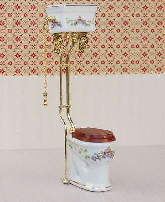 1:12 Dollhouse Miniature Flush toilet