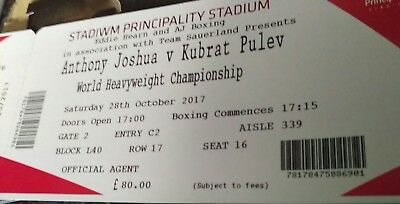 1x ANTHONY JOSHUA VS KUBRAT PULEV BOXING TICKETS/LOWER TIER/GREAT SEATS