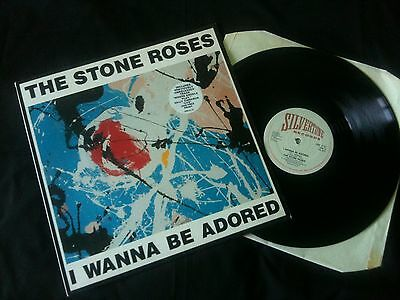 """The Stone Roses - I Wanna Be Adored 12"""" Ltd UK 1991 EX/EX-  # Indie"""