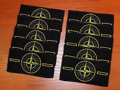 10 Stone Island Badge Patch - Free shipping 10 pcs - EXCELLENT !