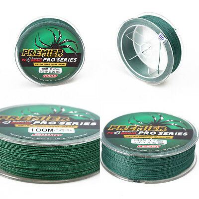 100M Green Fishing Lines PE Braid Multifilament Fishing Line Fishing Rope