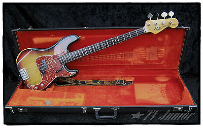 1973 FENDER PRECISION BASS & '80s FLIGHT-CASE.  PRO SET-UP & READY TO PLAY