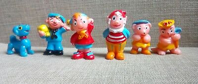 Noddy vintage 1975 cake toppers. Retro kids toys figures.