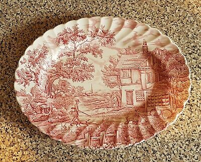 Myott The Hunter Large Serving Plate Pink