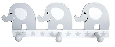 Children's Wardrobe Wood with Elephant Grey Jabadabado