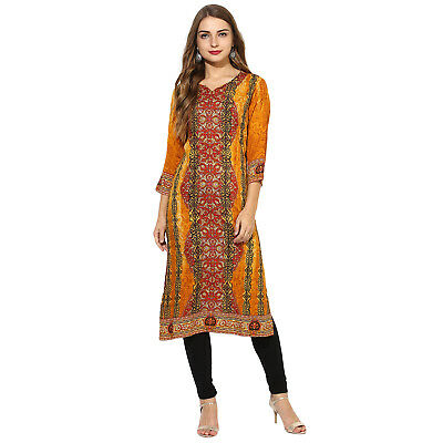 Indian Bollywood Designer Women Ethnic Dress Top Tunic new Stylish Rayon Kurti