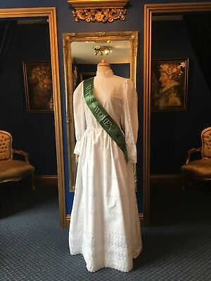 "Gorgeous Theatrical Style Period ""Suffragette"" Dress With Sash, Lovely Detailing"