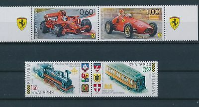 LH19606 Bulgaria cars trains transport fine lot MNH