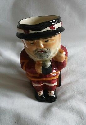 Vintage Shorter and Son Character Toby Jug Beefeater Genuine Staffordshire