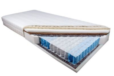 Mattress DIAMENT Size 140 cm x 200 cm Quilted Pocket Spring 7-Zones + Coco Fibre