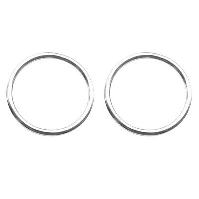 2pcs 316 Stainless Steel Smooth Welded Polished O Ring Marine Sail Boat