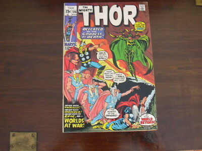 The Mighty Thor #186 Defeated Goddess of Death 1971 MARVEL Comics Stan Lee FN+
