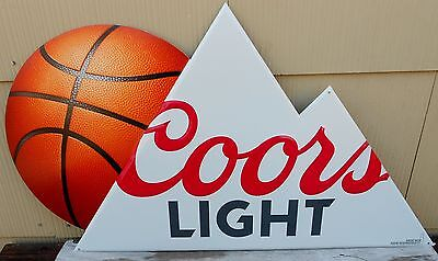 Coors Light Beer Basketball Tin Advertising Sign New Coors Brewing Golden Co