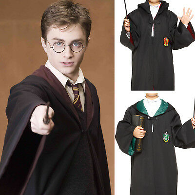 Cosplay Costume Carnevale Bambini Mantella Harry Potter Grifondoro Serpeverde