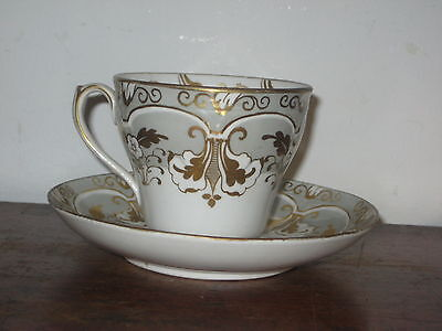 Pretty Regency Ornate English Tea Cup & Saucer