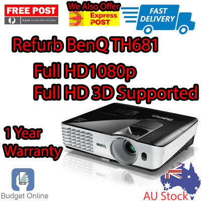 Refurbished BenQ TH681 Projector Full HD 1080p 3D Support 12 Months Warranty