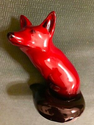 Royal Doulton Flambé Fox Made In 1920's In England