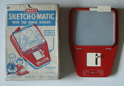 Omg! Mega Rare Stunning 100% 1960S Sketch O Matic Merit Etch A Sketch Type Toy