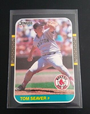 Tom Seaver #375 Donruss Leaf 1987 Baseball Card MLB Boston Red Sox