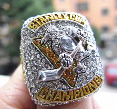 Real Photo 2017 Pittsburgh Penguins Hockey Stanley Cup championship ring Gift