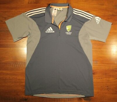 Official Cricket Australia Adidas Climacool Polo Top Size L