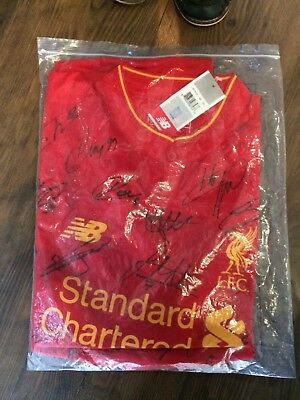 Official Liverpool Shirt Signed By The Official 2016 To 2017 Squad Members