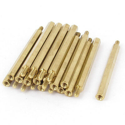10x(20 Pcs M3 3mm Male Female Brass Hex Standoff PCB Spacer Pillar 50mm V2L X7R1