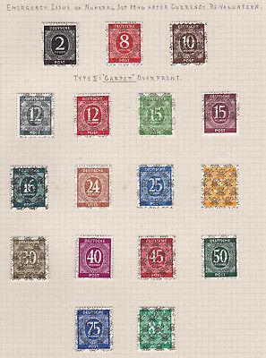 Germany. Allied Occupation 1948 Net Overprint Issue. Set of 17. Mint.