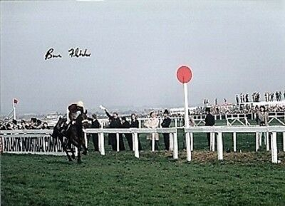 Original Hand Signed  Brian Fletcher and Red Rum 16 x 12 Large  Colour Photo