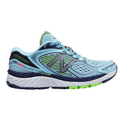 New Balance 860 v7 Womens TRUFUSE Cushioning Running Shoes - Blue/Lime D Width