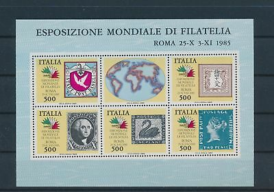 LH19922 Italy 1985 philatelic exhibition good sheet MNH