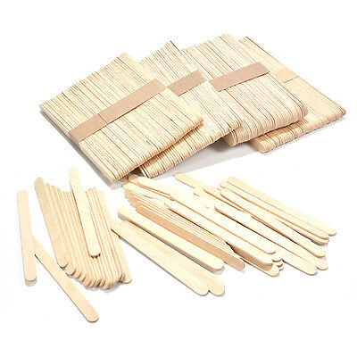 50pcs Ice Cream Stick Cake DIY Craft Wooden Popsicle Stick Original Timber Stick