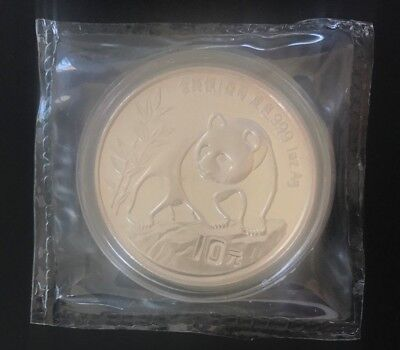 1990-China-Panda-10-Yuan-1oz-.999-Silver-Coin-('Small-Date')-UNC-Sealed-Proof(?)
