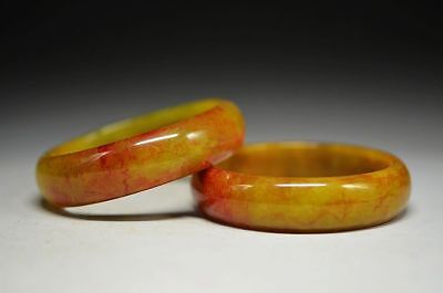 Delicate Chinese Old jade carved beautiful bracelet bangle  c1