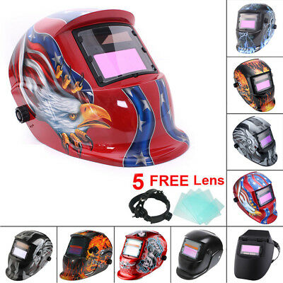 Auto Darkening Welding Mask Helmet Solar Powered Welders ARC TIG MIG Grinding UK