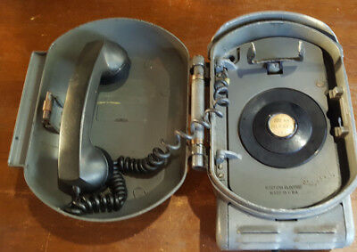 Old Industrial Western Electric Metal Telephone Bell System Call Box