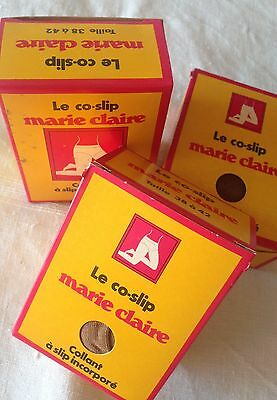 Lots De 3 Paires De Collants Co-Slip Marie Claire Mode Vintage 38/40/42 Neuf