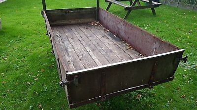 Large Garden Tipping Trailer For Ride On Mower,stable, Smallholding