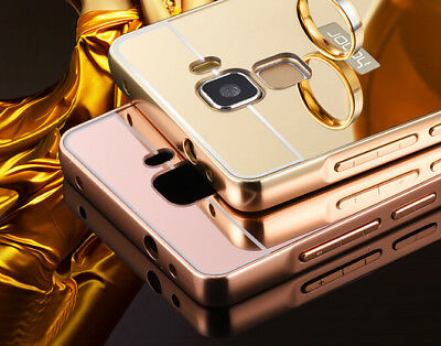 Luxury Aluminum Ultra Thin Mirror Metal Bumper Case Cover For Huawei Phone