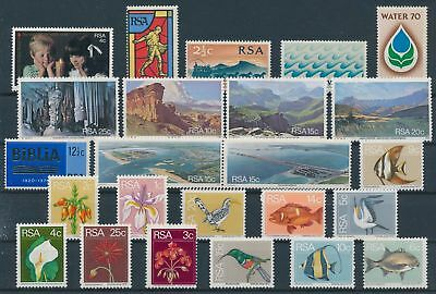 LH20351 South Africa nice lot of good stamps MNH
